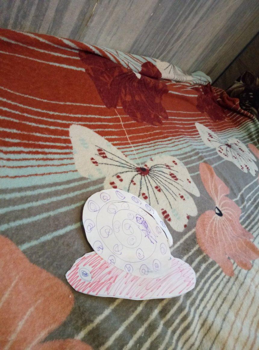 Отчёт по занятию Улитка из картонной тарелки в Wachanga!