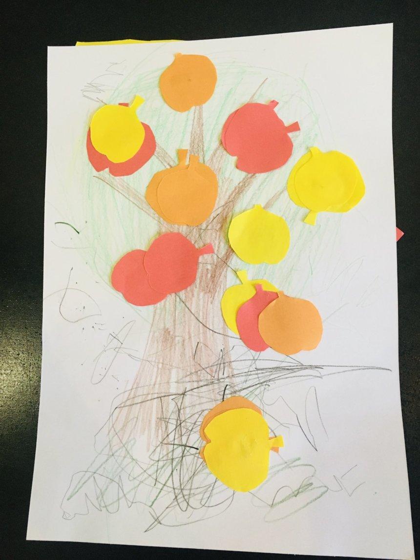Отчёт по занятию Простые аппликации для малыша в Wachanga!