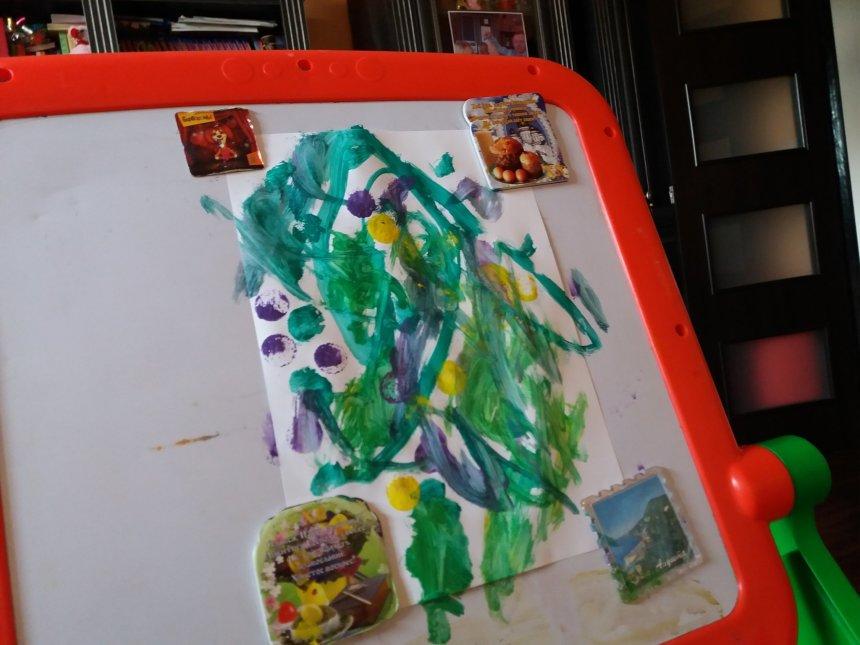 Отчёт по занятию Порисуйте с малышом гуашью в Wachanga!
