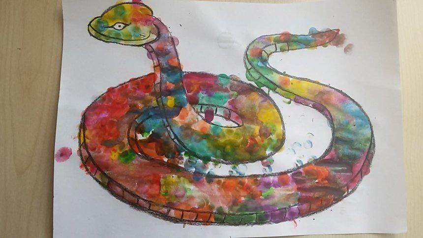 Отчёт по занятию Нарисуйте змею в Wachanga!