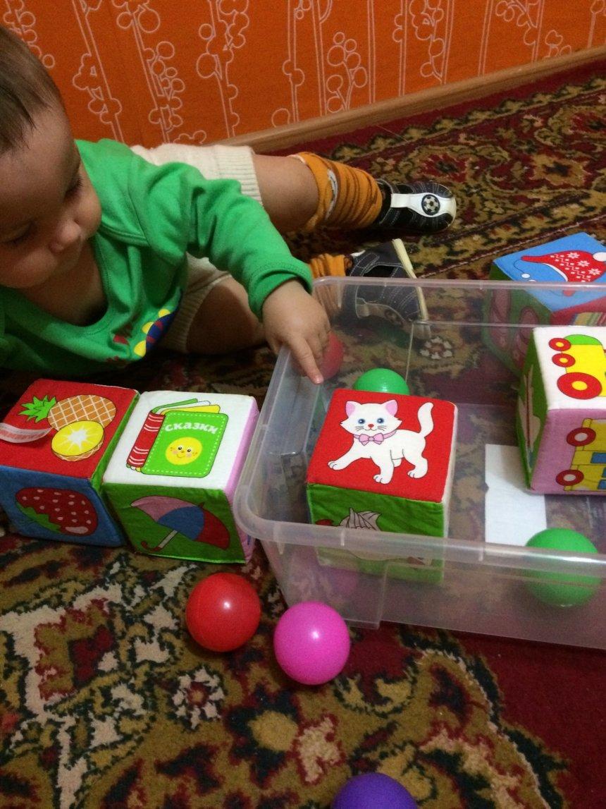 Отчёт по занятию Сложи в коробку в Wachanga!