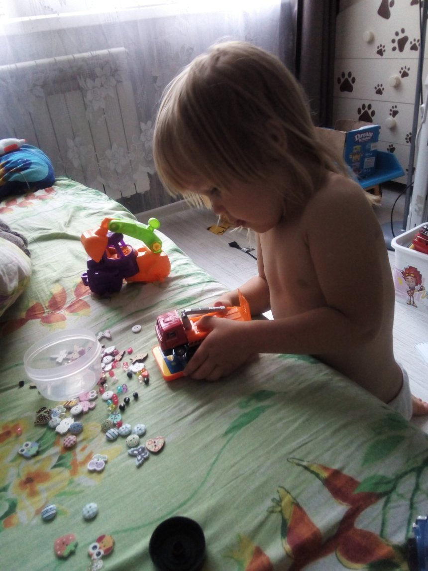Отчёт по занятию Поиграйте с пуговицами! в Wachanga!