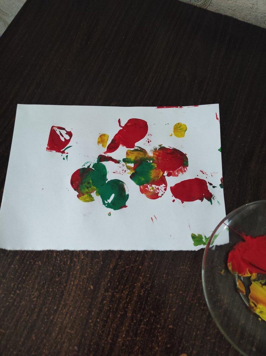 Отчёт по занятию Порисуйте картофельными штампами! в Wachanga!