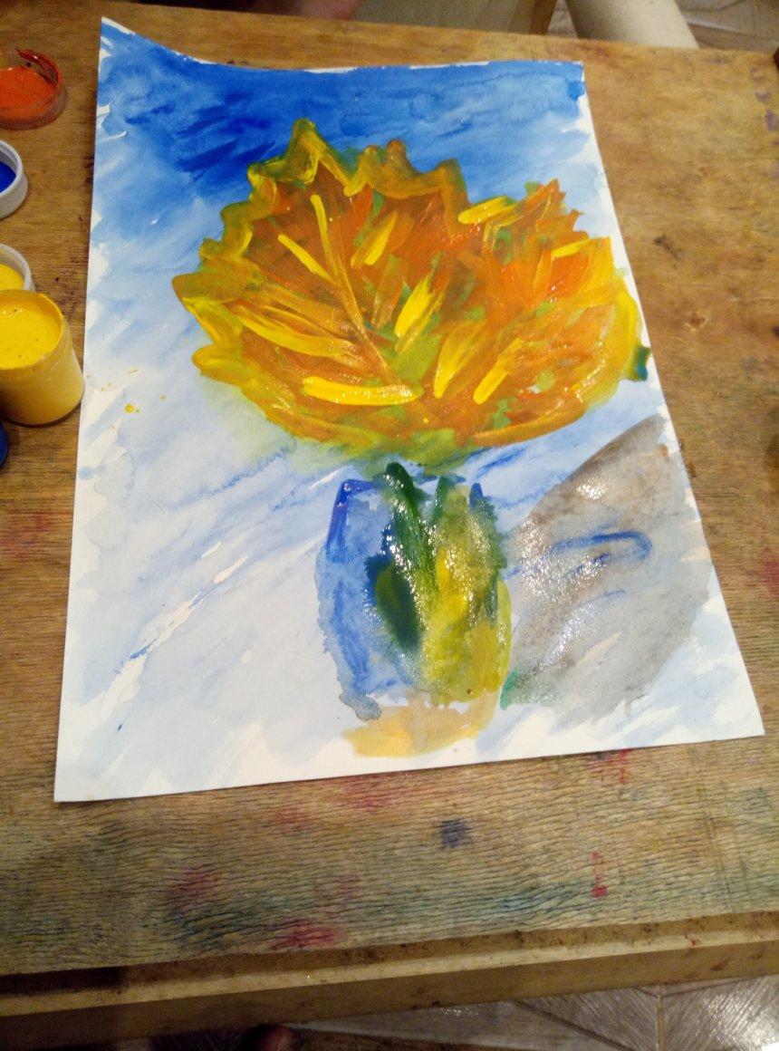 Отчёт по занятию Осенний натюрморт в Wachanga!