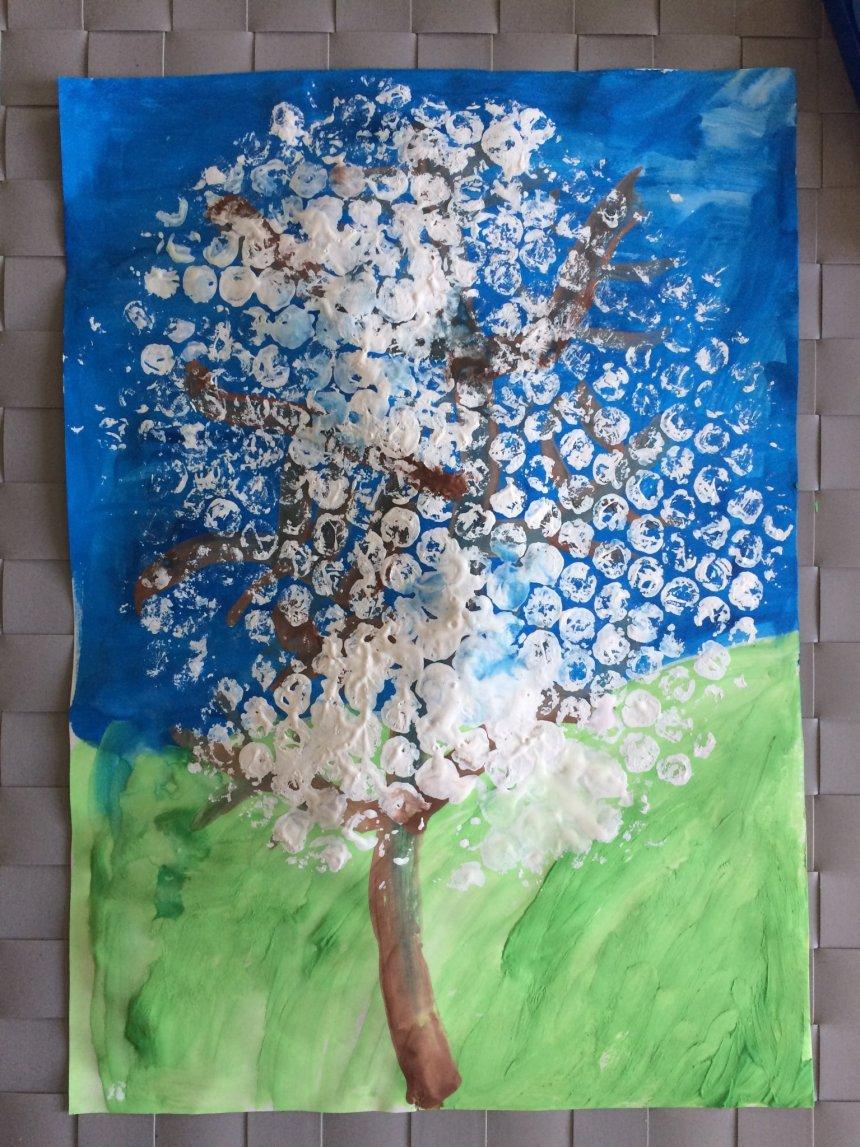 Отчёт по занятию Цветущая яблоня в Wachanga!