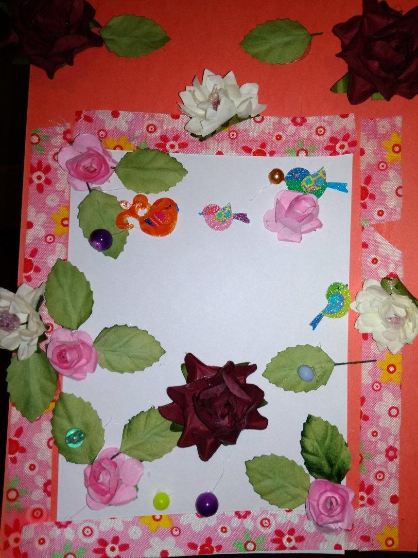 "Отчёт по занятию Открытка ""Весенние цветы"" в Wachanga!"