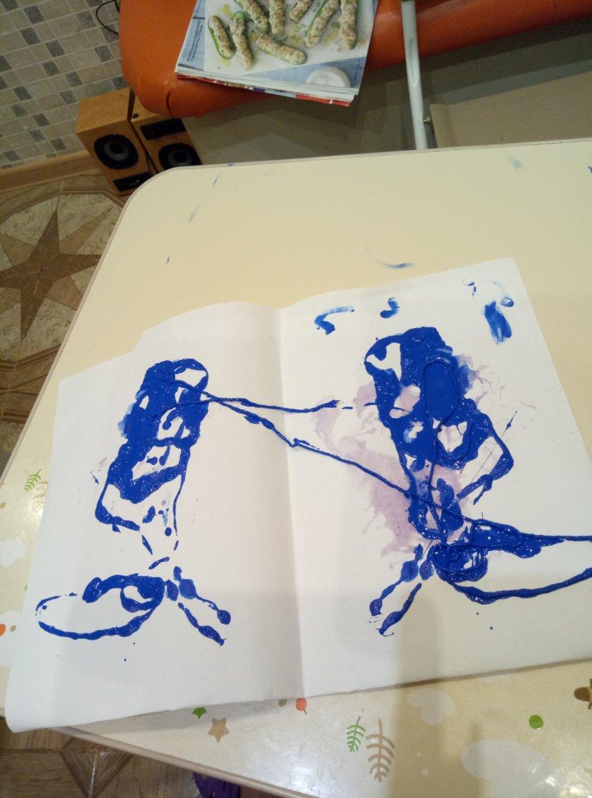 Отчёт по занятию Порисуйте вместе с ребенком шерстяными нитками! в Wachanga!