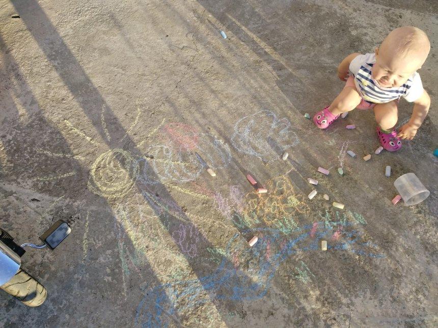Отчёт по занятию Рисование мелом в Wachanga!