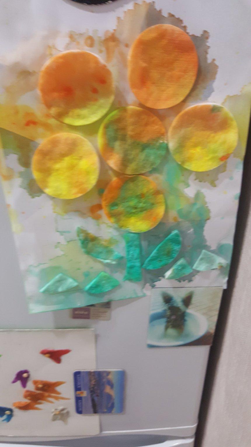 Отчёт по занятию Аппликация «Цветочек» в Wachanga!