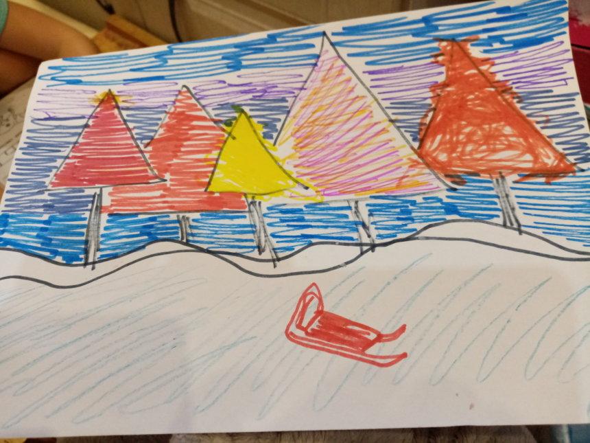 Отчёт по занятию Как нарисовать зимний лес в Wachanga!