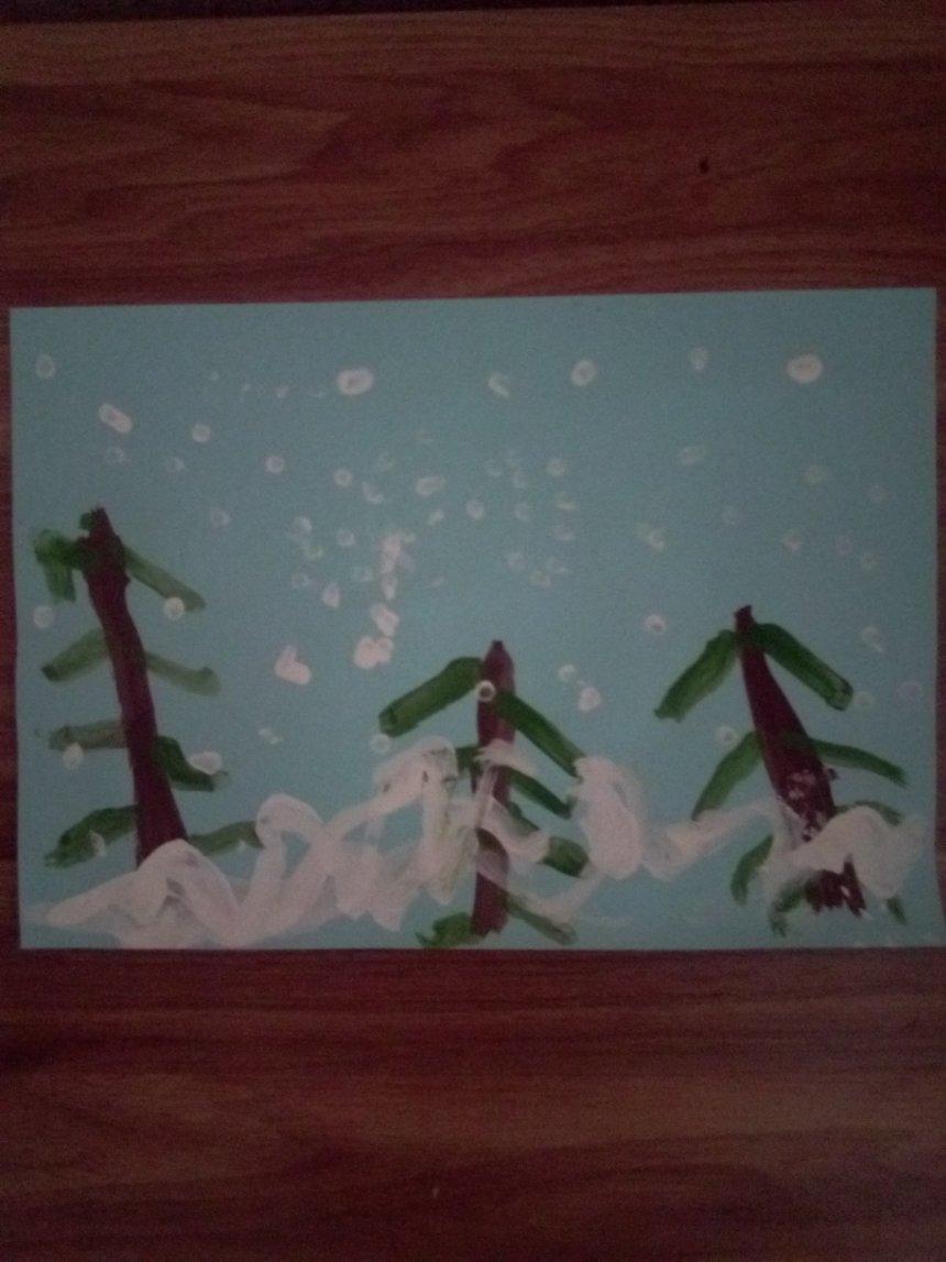 Отчёт по занятию Снегопад в лесу в Wachanga!