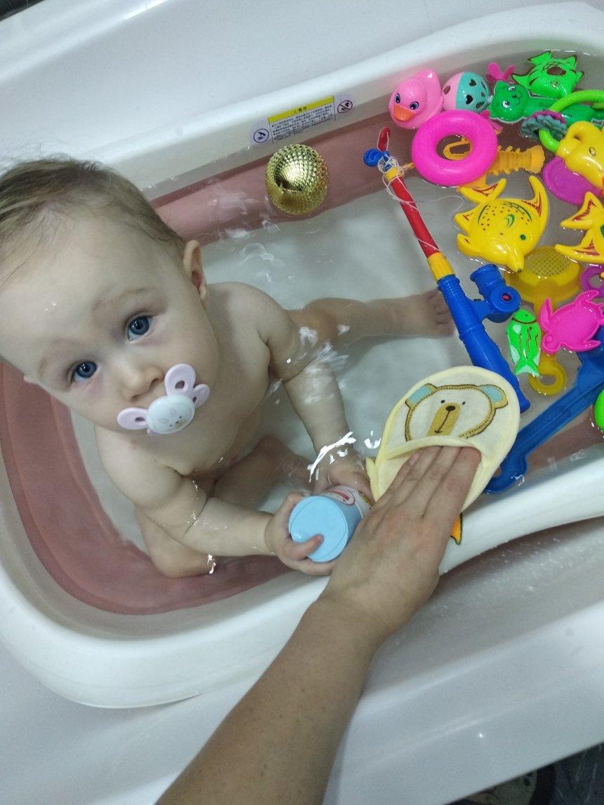 Отчёт по занятию Подарите малышу веселую варежку для купания! в Wachanga!