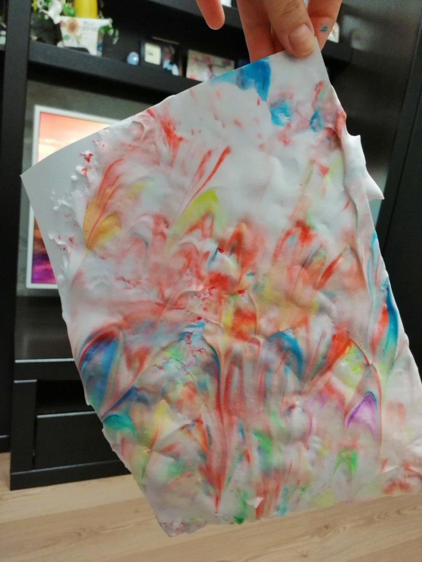 Отчёт по занятию Цветная бумага своими руками в Wachanga!