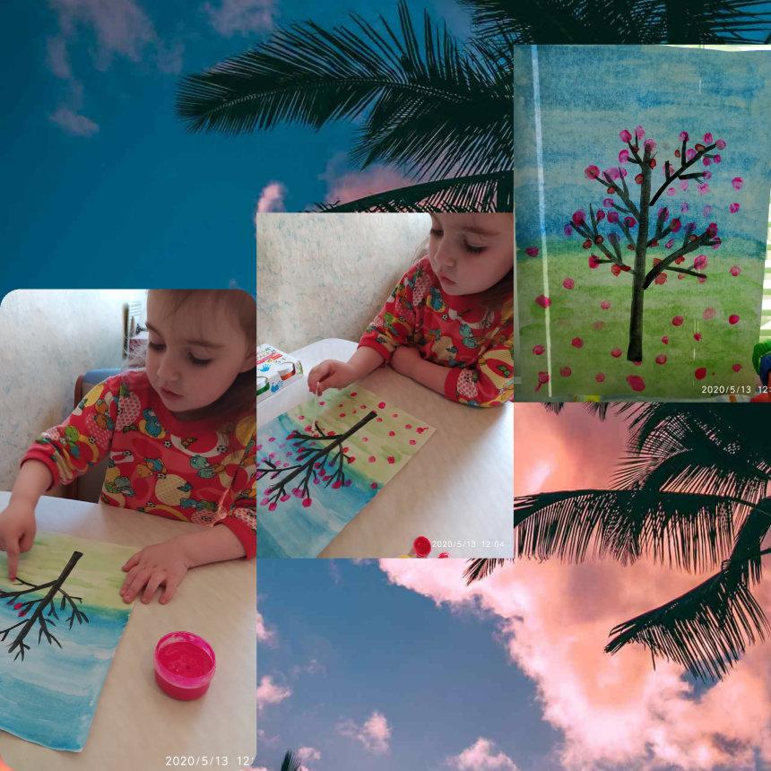 Отчёт по занятию Нарисуйте цветущую вишню в Wachanga!
