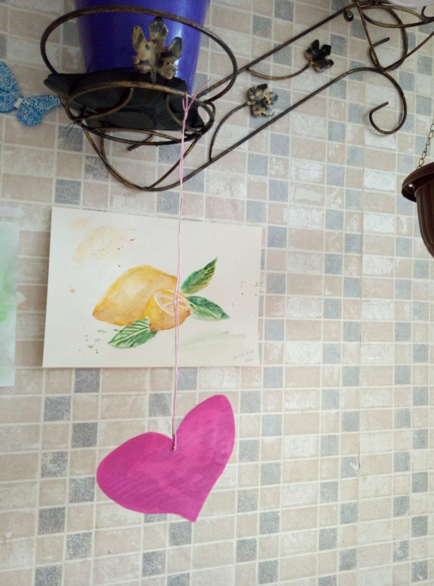 Отчёт по занятию Валентинки из цветного картона и бумаги к 14 февраля в Wachanga!