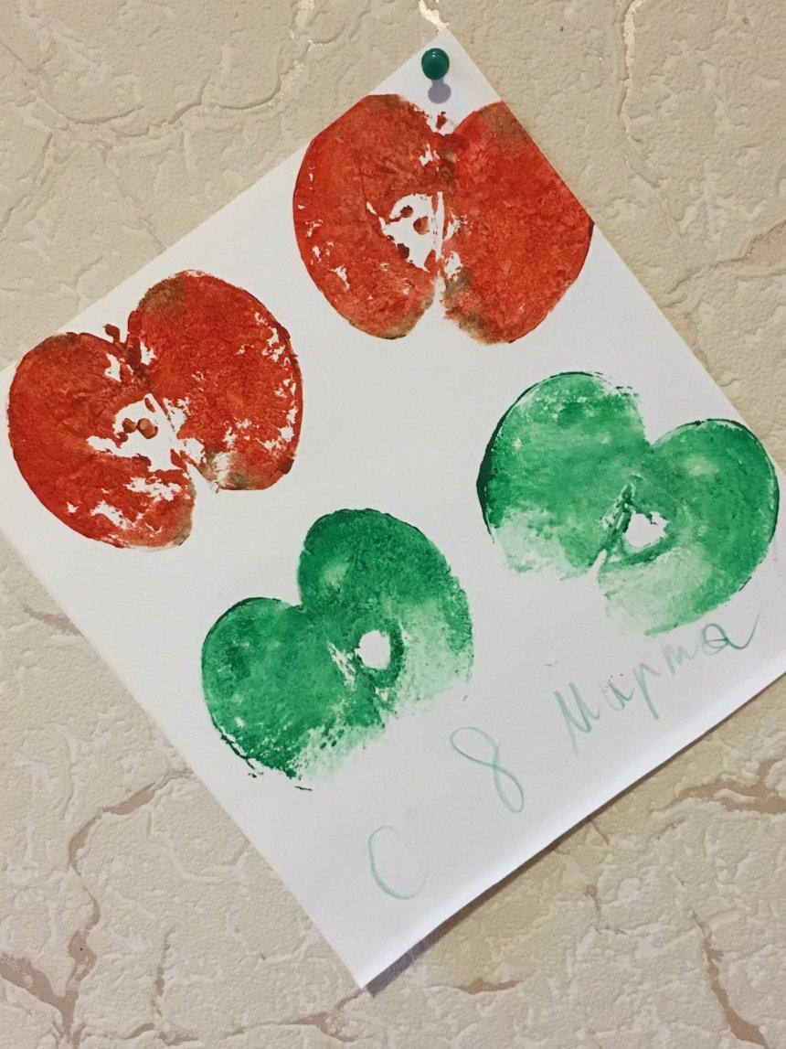Отчёт по занятию Яблочные открытки в Wachanga!