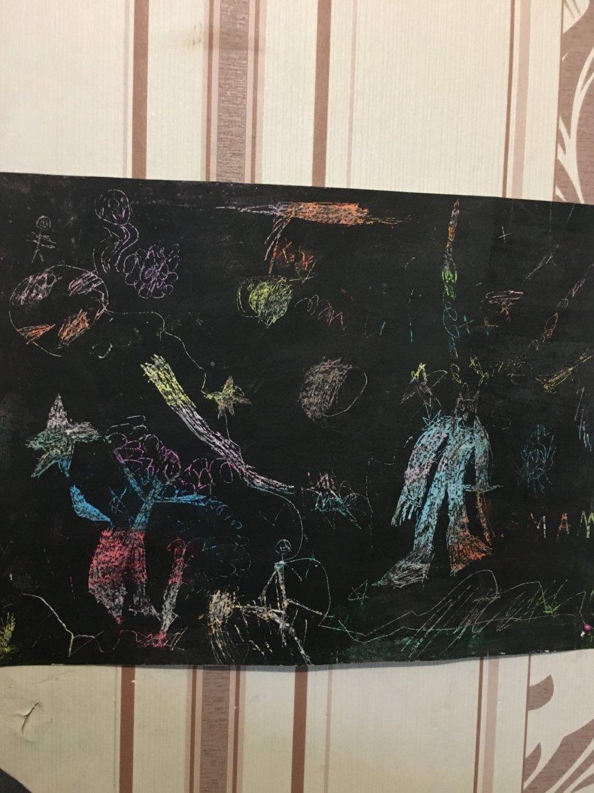 """Отчёт по занятию Нарисуйте рисунок в технике """"граттаж"""" в Wachanga!"""