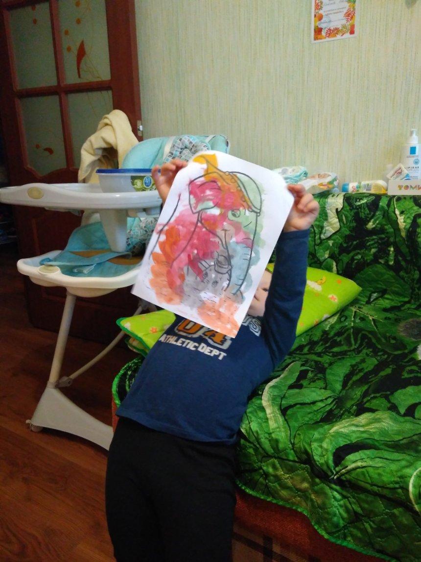 Отчёт по занятию Порисуйте вместе акварельными карандашами по мокрой бумаге в Wachanga!
