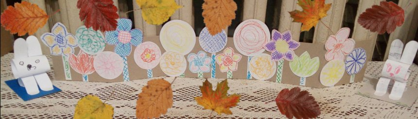 Отчёт по занятию Сделайте вместе с ребенком клумбу с цветами из бумаги и картона в Wachanga!