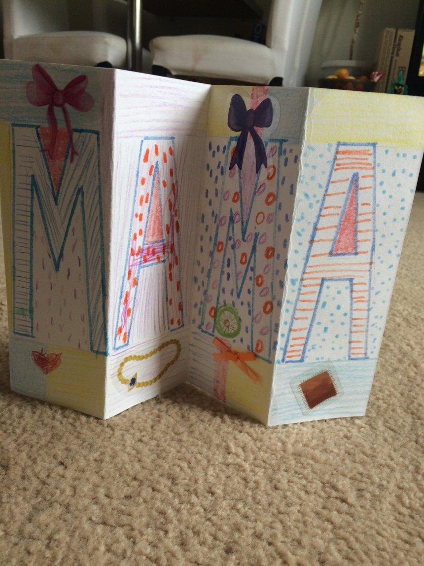 Отчёт по занятию Открытка-гармошка для мамы на 8 марта в Wachanga!