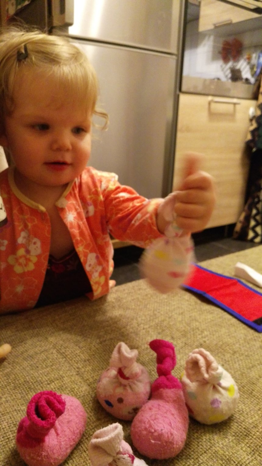 Отчёт по занятию Сделайте для ребенка сенсорные носочки в Wachanga!