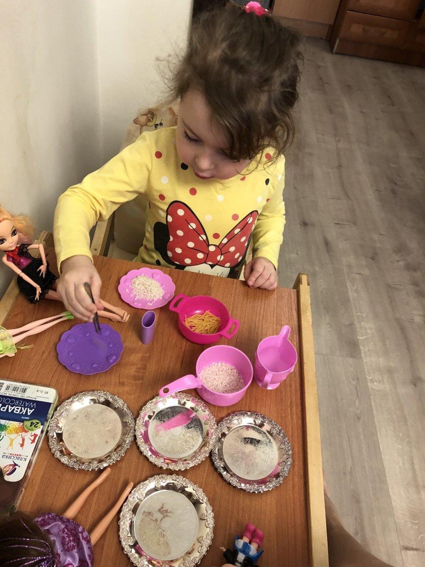 Отчёт по занятию Готовим обед для кукол в Wachanga!