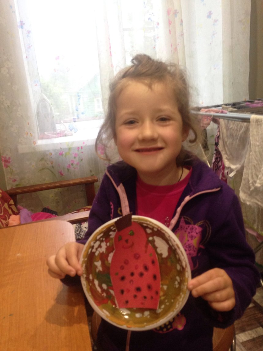 Отчёт по занятию Сделайте вместе с малышом павлина из одноразовой тарелки в Wachanga!