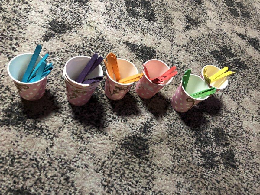 Отчёт по занятию Игры с цветными колпачками  в Wachanga!