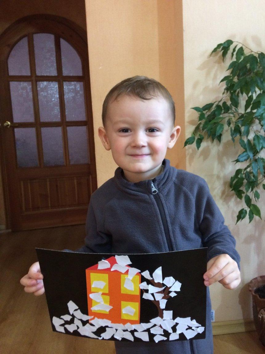 """Отчёт по занятию Аппликация """"Зимний день"""" в Wachanga!"""