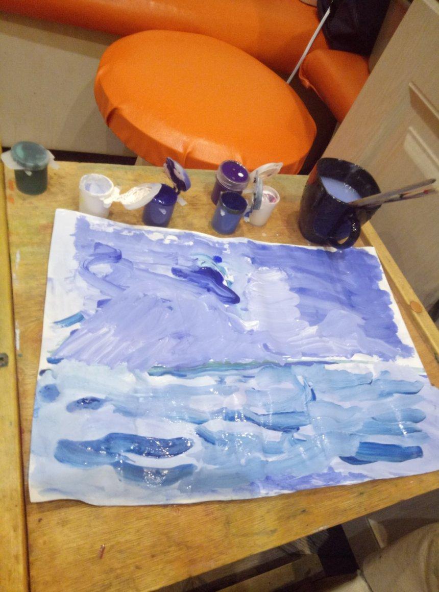 Отчёт по занятию Нарисуйте вместе с ребенком Антарктиду в Wachanga!