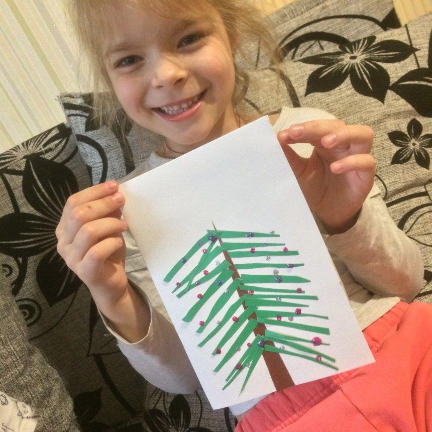 Отчёт по занятию Как сделать новогоднюю открытку в Wachanga!