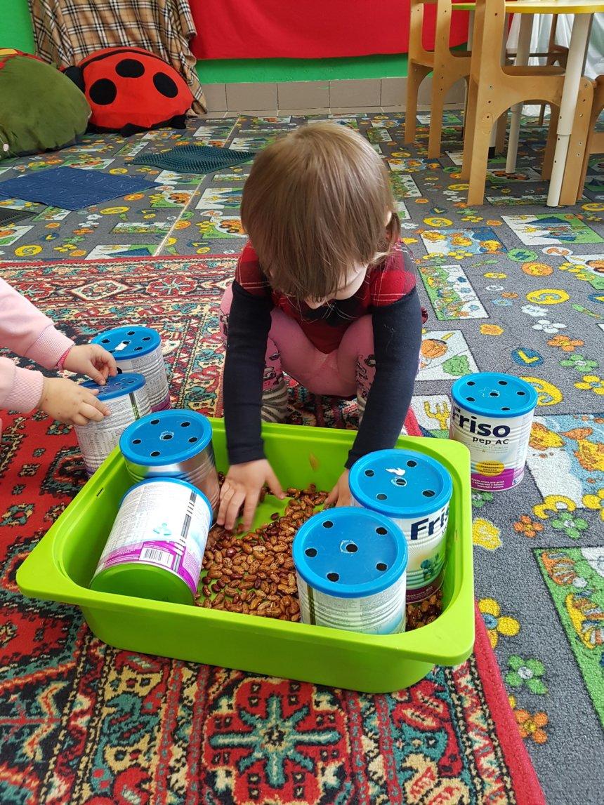 Отчёт по занятию Предложите ребенку поиграть с фасолью в Wachanga!