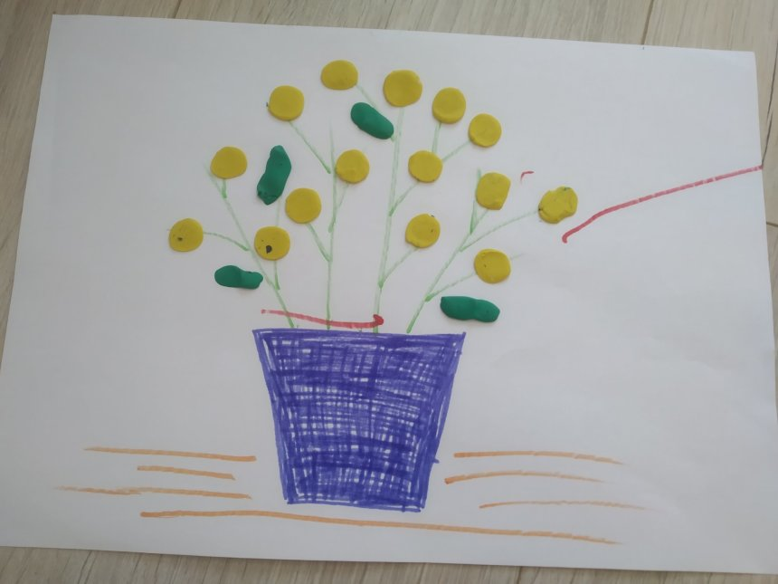 Отчёт по занятию Пластилиновая аппликация «Мимоза» в Wachanga!