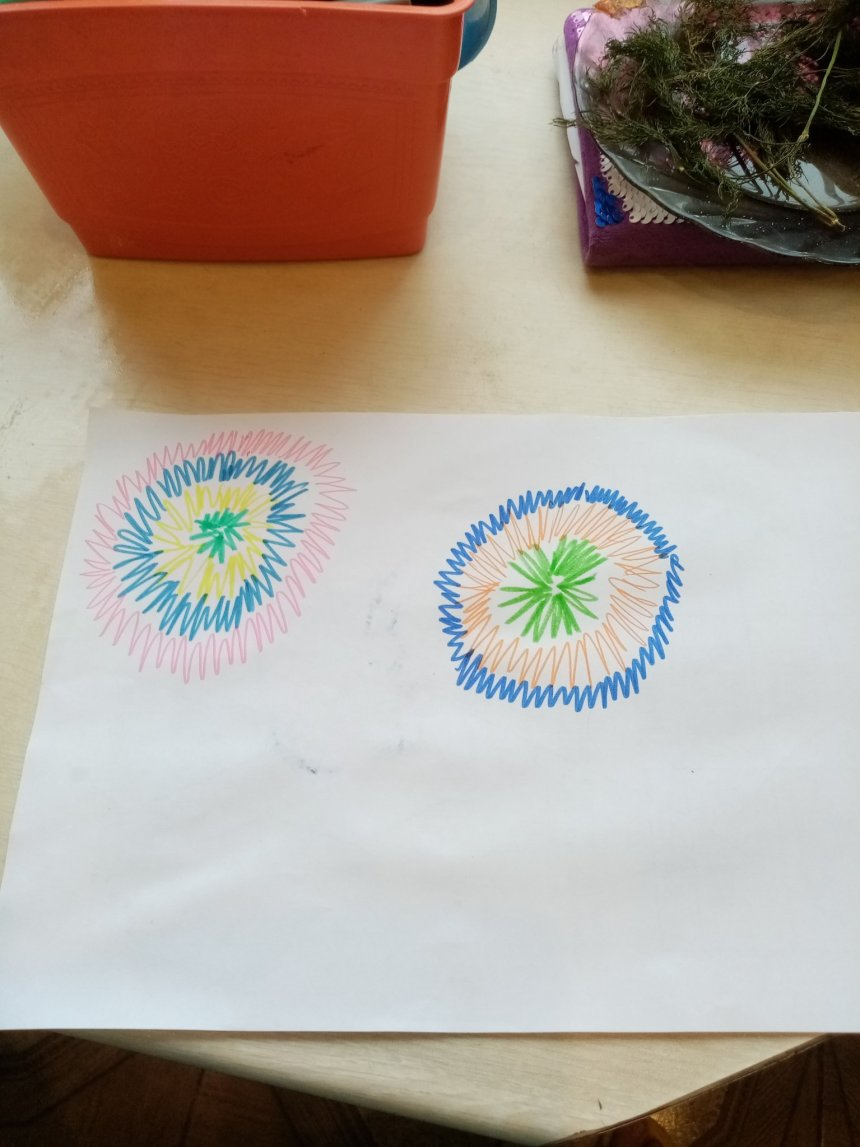 Отчёт по занятию Рисуем салют разноцветными фломастерами в Wachanga!
