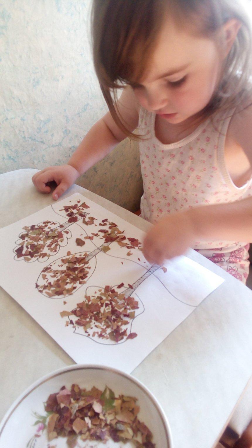 Отчёт по занятию Осенний лес глазами малыша в Wachanga!