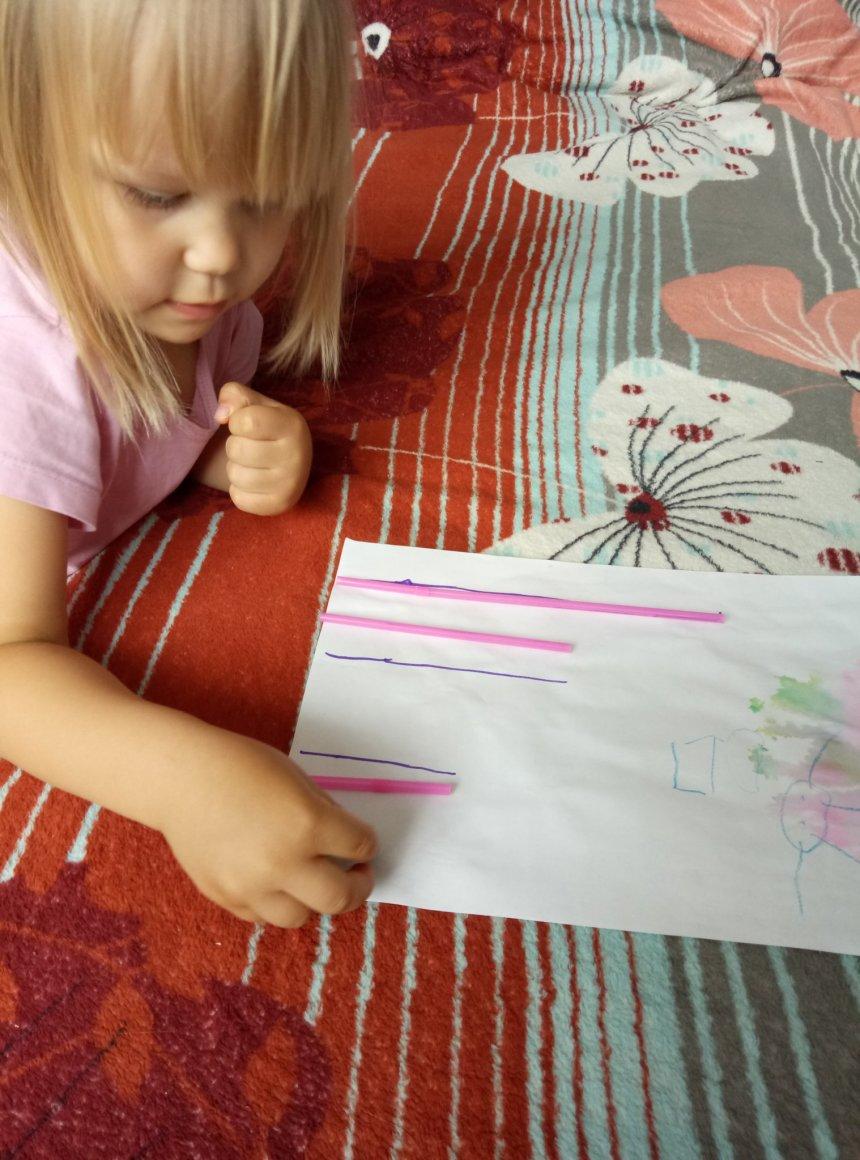 Отчёт по занятию Предложите ребенку заняться сортировкой трубочек в Wachanga!