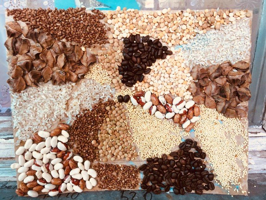 Отчёт по занятию Панно из круп и семечек в Wachanga!