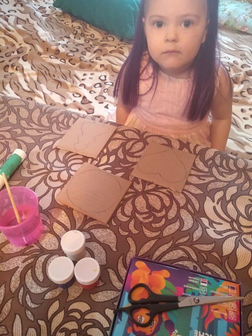 Отчёт по занятию Ёлочные игрушки из картона в Wachanga!