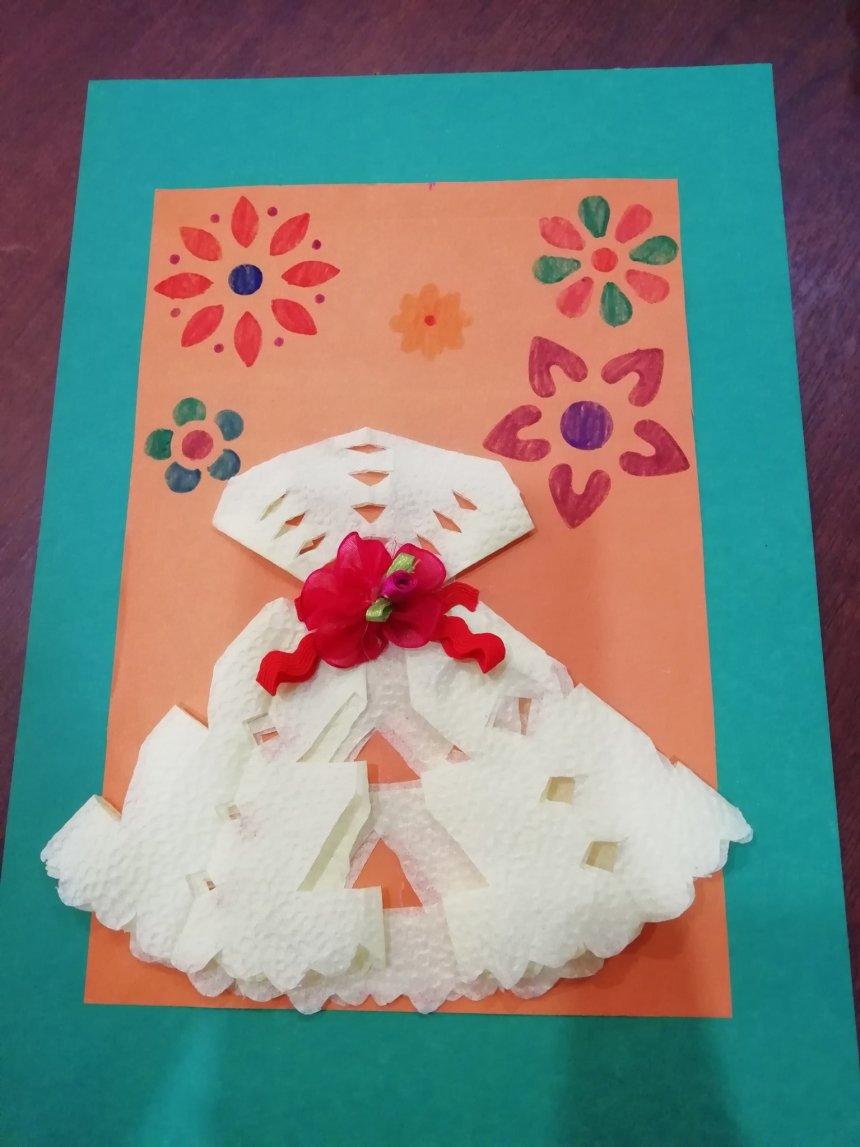 Отчёт по занятию Сделайте вместе с ребенком открыточки с платьями в Wachanga!