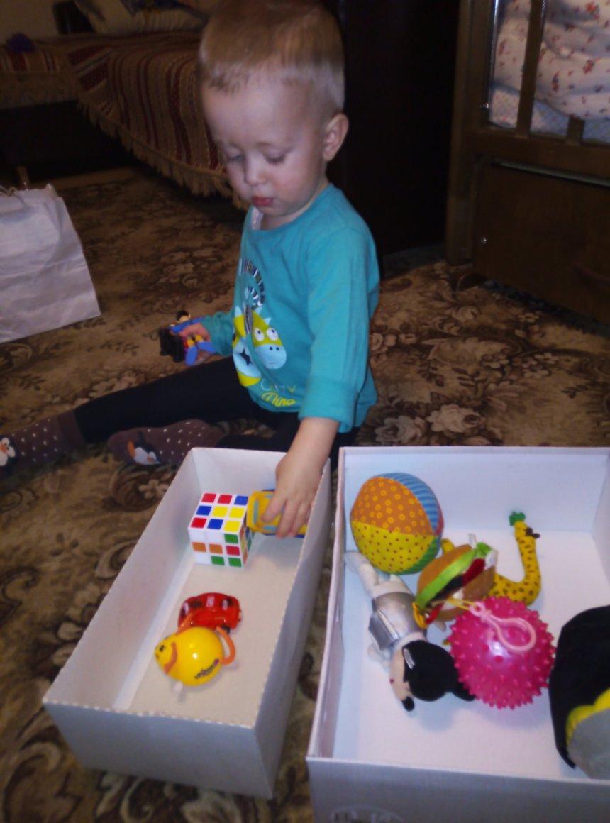 Отчёт по занятию Поиграйте с малышом в игру «Расфасовка» в Wachanga!