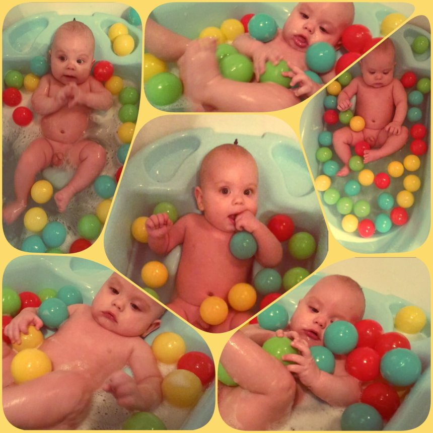 Отчёт по занятию Поиграйте с разноцветными мячиками во время купания в Wachanga!