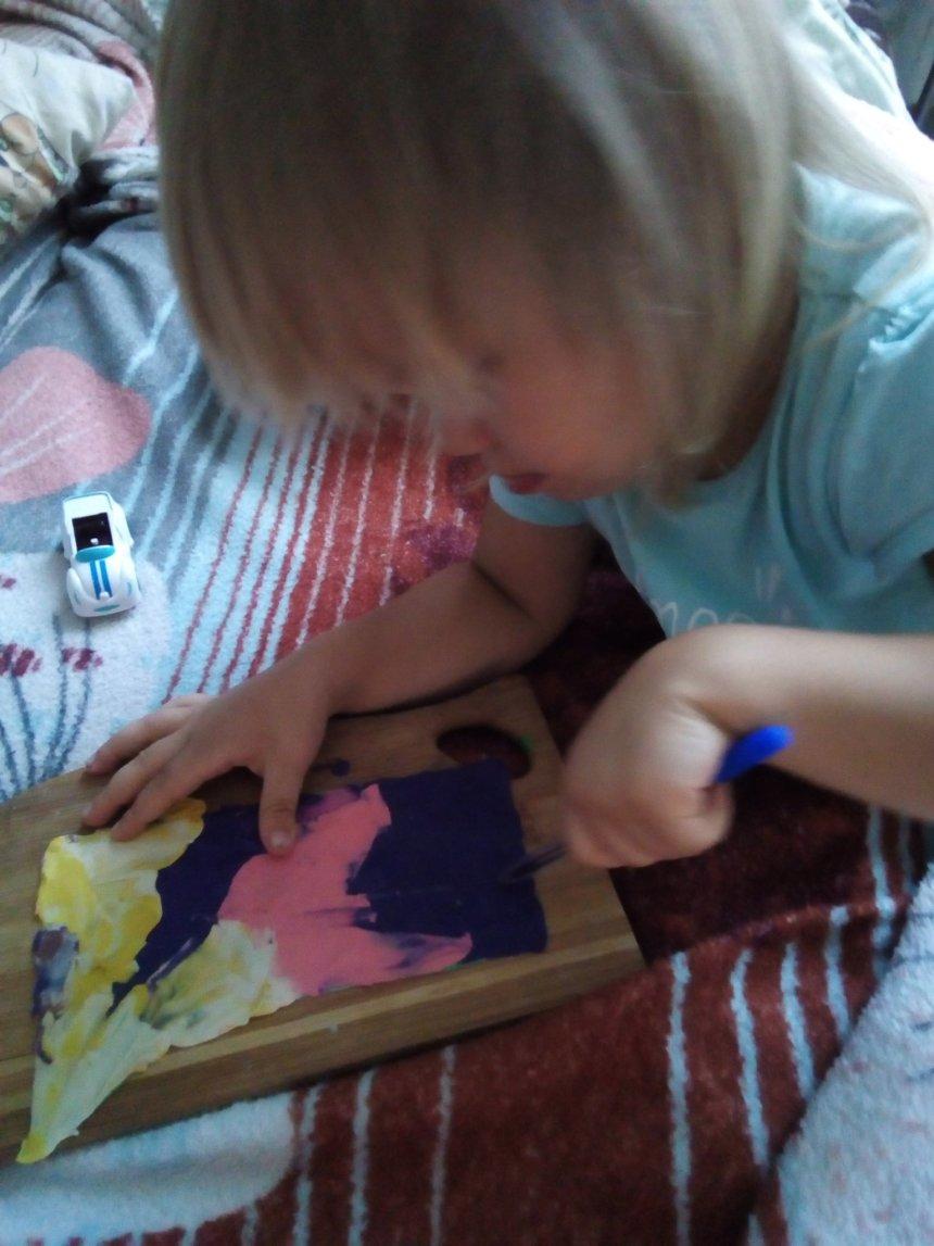 Отчёт по занятию Рисунки на пластилине в Wachanga!