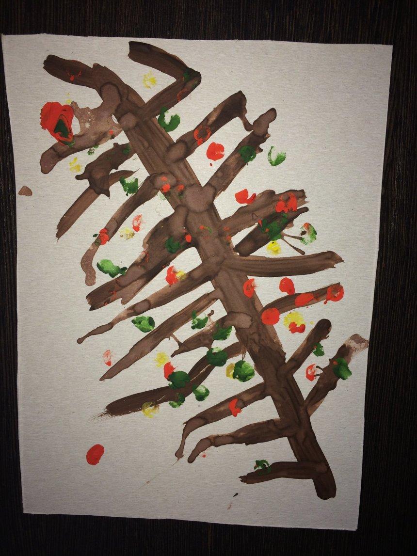 Отчёт по занятию Нарисуйте вместе с ребенком осенне дерево гуашью в Wachanga!