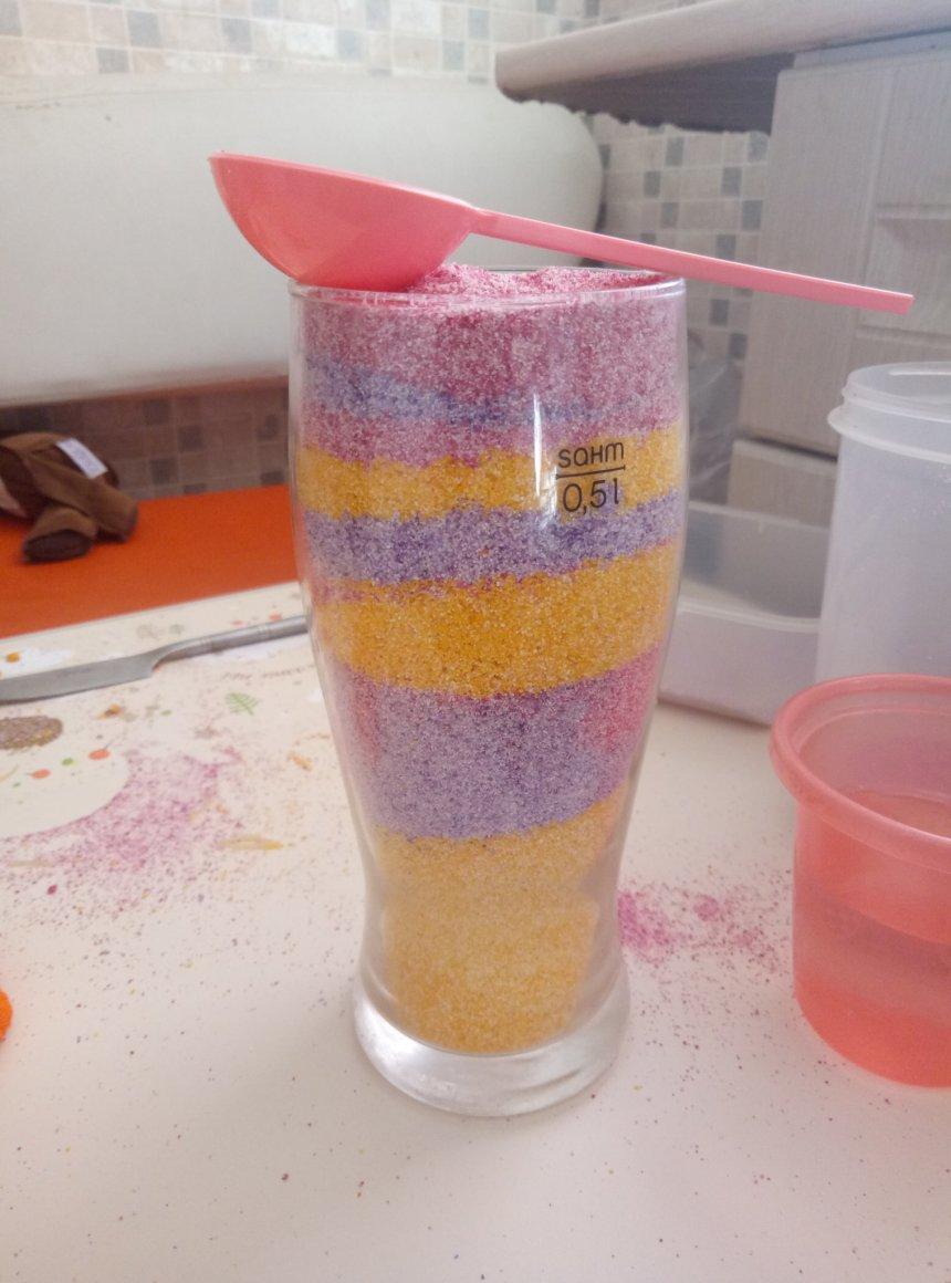 Отчёт по занятию Цветной песок в Wachanga!