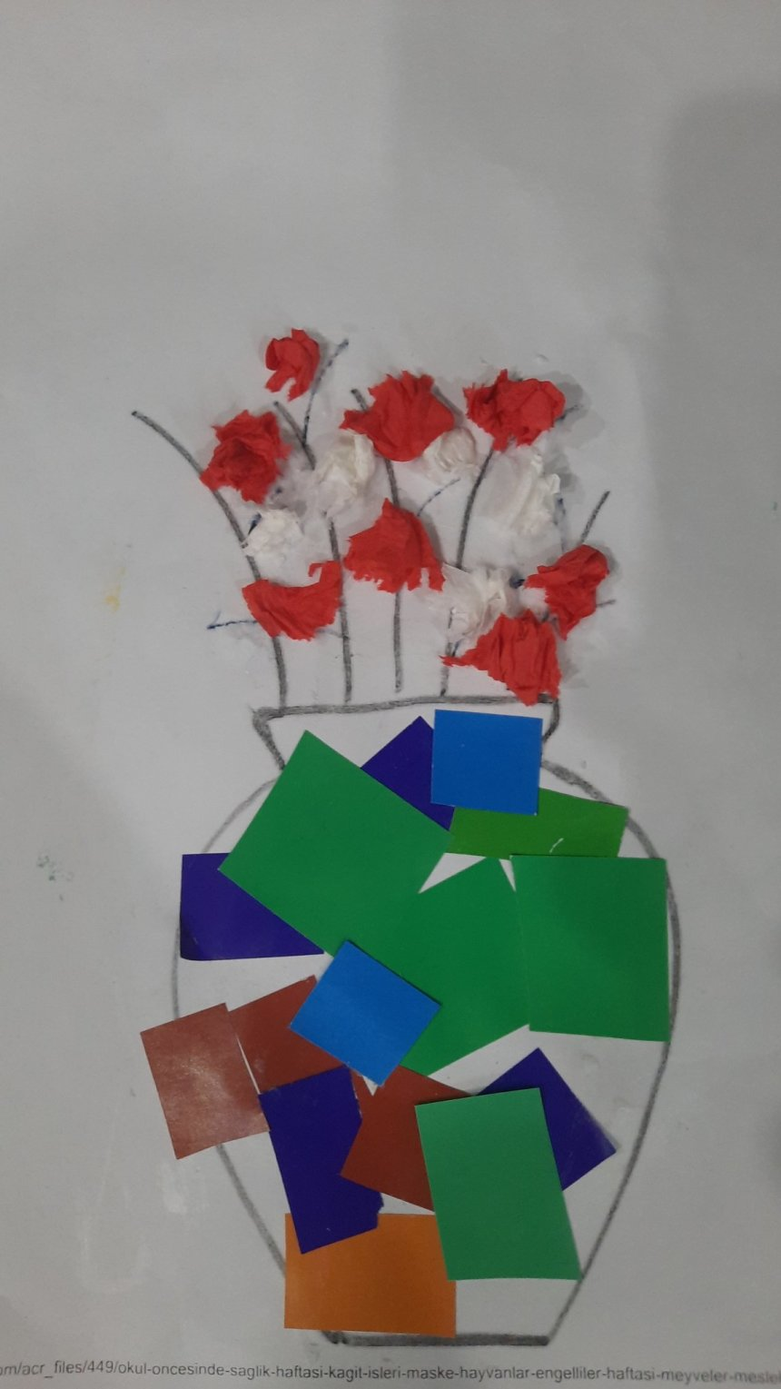"Отчёт по занятию Аппликация ""Весенний букет"" в Wachanga!"