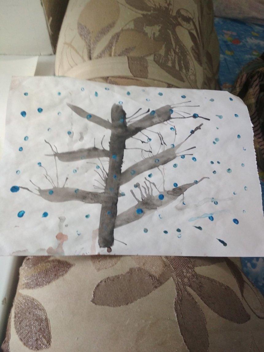 Отчёт по занятию Рисуем зимнее дерево в Wachanga!