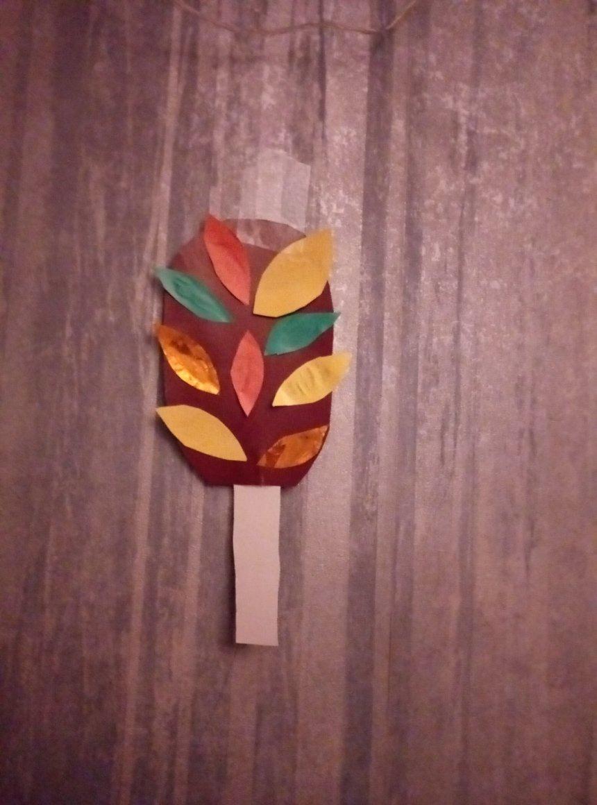 Отчёт по занятию Осеннее дерево из картонной тарелки в Wachanga!