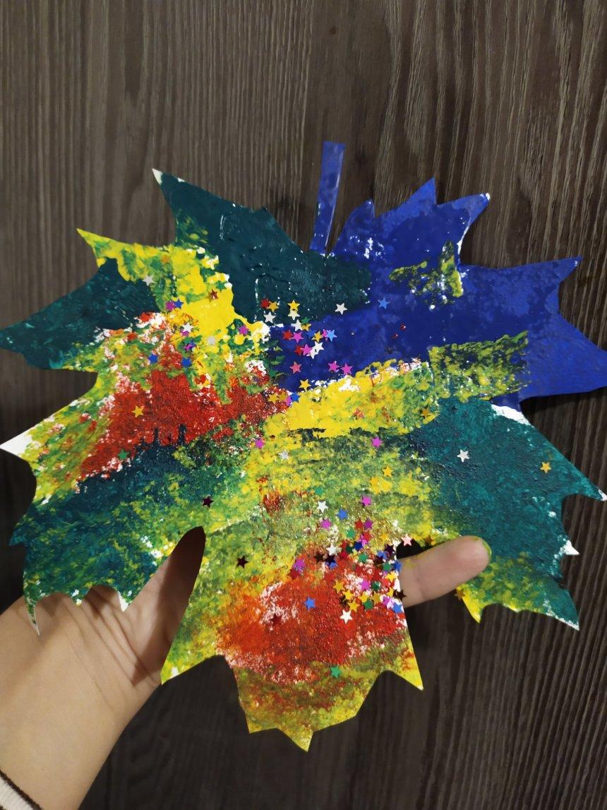 Отчёт по занятию Украсьте комнату кленовыми листьями в Wachanga!