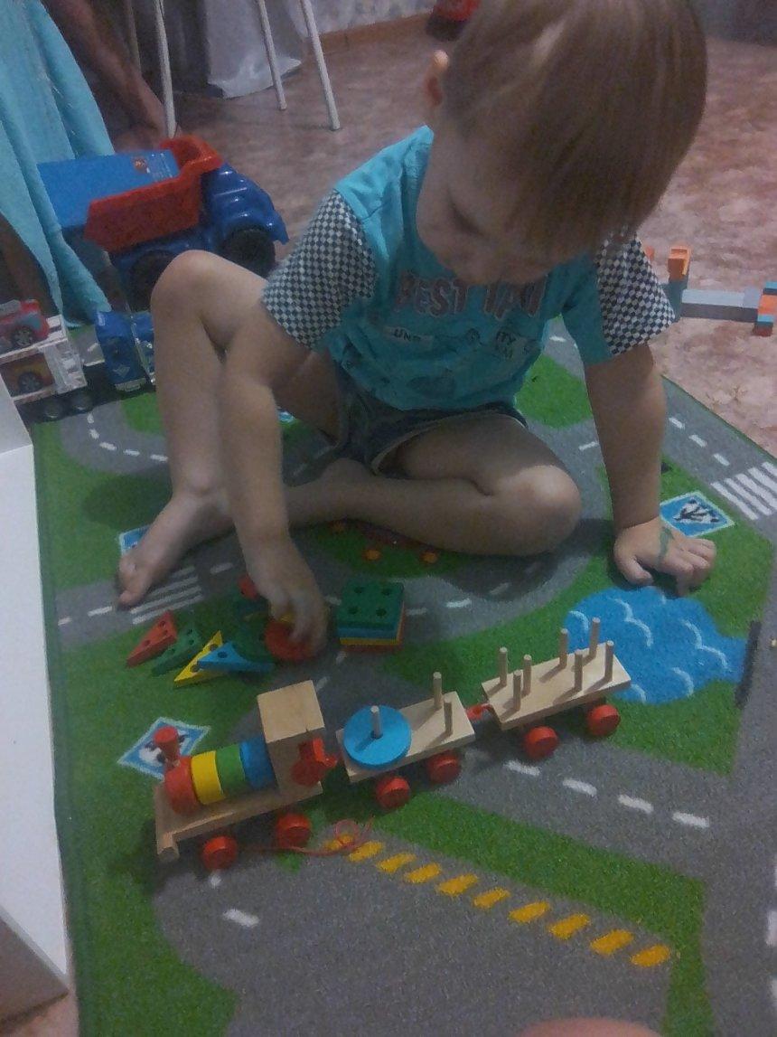 Отчёт по занятию Поиграйте с деревянной пирамидкой в Wachanga!