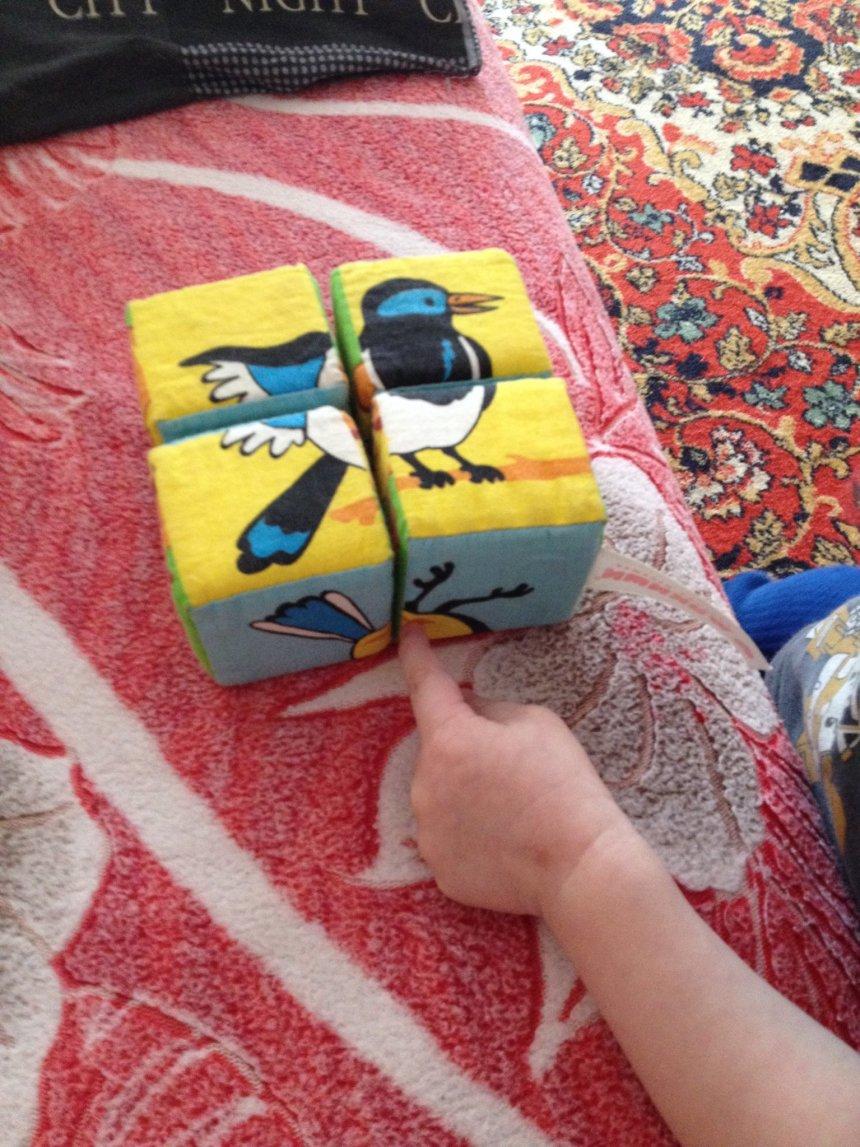Отчёт по занятию Игры с мягкими кубиками в Wachanga!